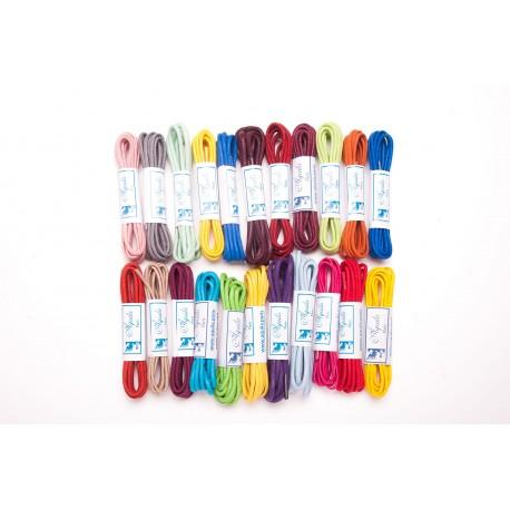 Lacets de couleurs coton ciré