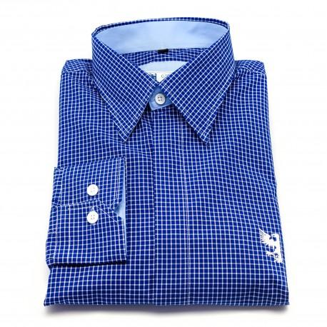 Chemise à petits carreaux bleu blanc