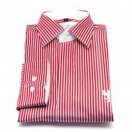 Chemise rayée rouge