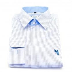 Chemise petits carreaux bleu