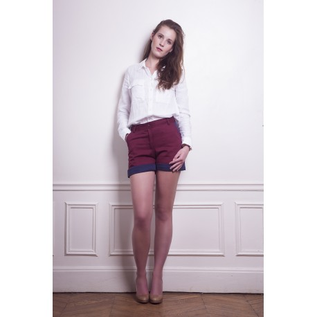 Minishorts Bordeaux / Marine
