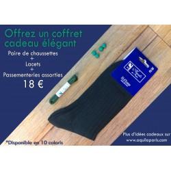 PACK CADEAU : TRIO Chaussettes + lacets +  passementeries assorties
