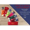 PACK CADEAU : Cravate ou noeud papillon + Paire de chaussettes + lacets +  passementeries assorties