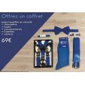 PACK CADEAU : Paire de chaussettes + lacets + ceinture + nœud papillon ou cravate + bretelles +  passementeries assorties