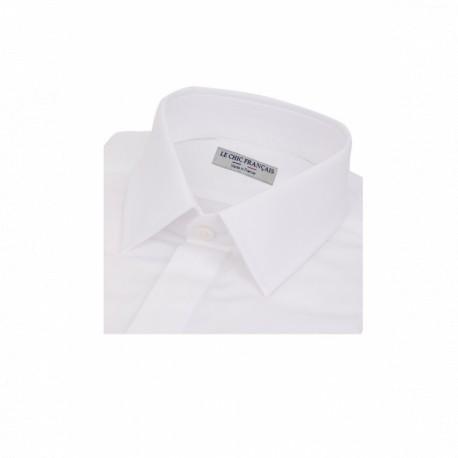 Chemise blanche à poignets mousquetaires