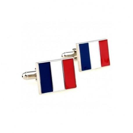 Boutons de manchettes drapeau français