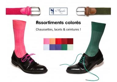 Jouez avec les couleurs ! Assortissez chaussettes, lacets et autres accessoires !